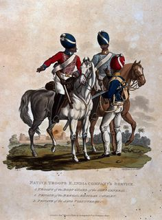 Native Troops, East India Company's Service, 1812   Online Collection   National Army Museum, London