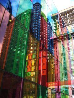 The colours of the Palais des Congrès de Montréal (aka the convention centre)!