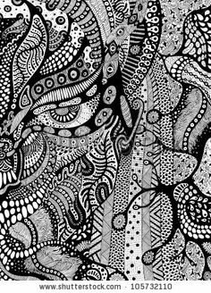 Psychedelic visuals black and white dresses