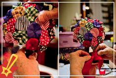 Quer uma ideia diferente para decorar a festinha das crianças? Que tal um arranjo feito todinho com retalhos? O resultado fi