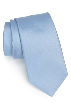 $49, Light Blue Silk Tie: Nordstrom Woven Silk Tie Light Blue Regular. Sold by Nordstrom. Click for more info: https://lookastic.com/men/shop_items/88597/redirect