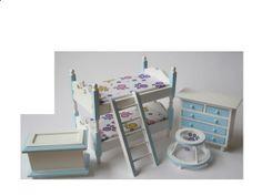 Kinderzimmer  5 Teile modernes Puppenhausmöbel für die Puppenstube