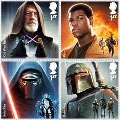send letters to a galaxy far, far away with royal mail's star wars stamp series