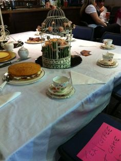 Ruby's China on display as it should be with cake!