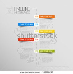 Vector Infographic timeline report template with icons and rounded labels - stock vector