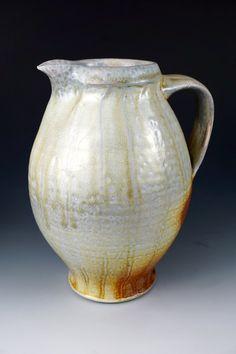 Woodfired Porcelain Blend Ceramic Pottery by Justin Lambert | Pitcher, Jug, Serving, Lemonade, Iced Tea