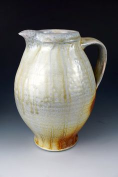 Woodfired Porcelain Blend Ceramic Pottery by Justin Lambert | Pitcher, Jug, Serving, Lemonade, Iced Tea