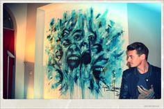 #antoinestevens #streetart #pochoir #stencil #paintings #art #artist #aerosol #spraypaint #canvas #toile #portrait #cri