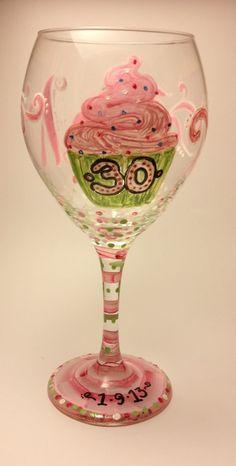 AT PEACE ARTS - Birthday Wine Glass, kyia@atpeacearts.com (http://www.atpeacearts.com/birthday-wine-glass/)