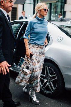 Laura Bailey wearing Zanzan 'Erzulie' sunglasses London Fashion Week Street Style | British Vogue