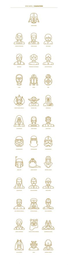 Selin Ozgur – Star Wars Flat Icon Project | Geek Art – Art, Design, Illustration & Pop Culture ! | Art, Design, Illustration & Pop Culture !