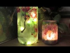 How to Create the Look of Embossing with Glue on Glass Jars by EcoHeidi Borchers - YouTube