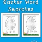 Free! 2 Easter Egg shaped word searches