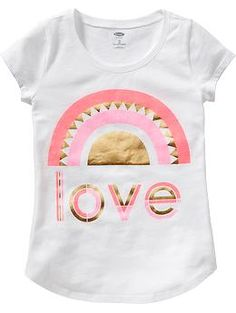 Girls Foil-Graphic Tees   Old Navy