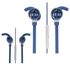 rogeriodemetrio.com: Doctor Who TARDIS Ear Bud Headphones