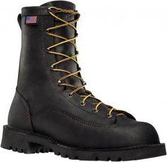 15546 Danner Men's Bull Run Work Boots - Black www.bootbay.com