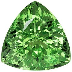 Genuine Green Garnet Loose Gemstone, Trillion Cut, 6.8 mm, 1.27 Carats at BitCoin Gems