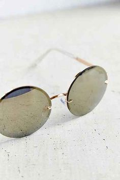 Golden Goddess Rimless Round Sunglasses - Urban Outfitters