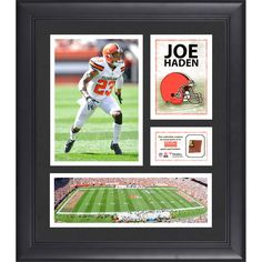 """Joe Haden Cleveland Browns Fanatics Authentic Framed 15"""" x 17"""" Collage with Game-Used Football - $63.99"""