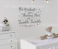 We wished upon a star nursery wall sticker by 60SecondMakeover, £13.99
