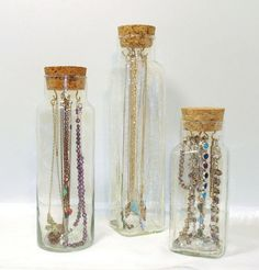 awesome Jewelry Holder!!!   Unique Jewerly Storage // Vintage Apothecary Jar by PeacockG...