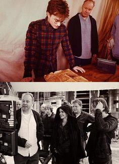Daniel Radcliffe, Emma Watson, and Rupert Grint- behind the scenes!