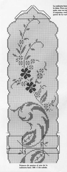 Filet Crochet Charts, Crochet Doily Patterns, Knitting Charts, Thread Crochet, Crochet Designs, Crochet Doilies, Crochet Stitches, Crochet Home, Love Crochet