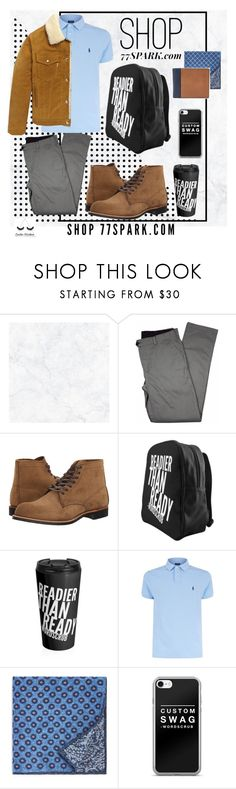 """What a man! By 77 spark!"" by lu-uzd ❤ liked on Polyvore featuring Wall Pops!, Lords of Harlech, Red Wing, Polo Ralph Lauren, The Men's Store, Maison Kitsuné, FOSSIL, men's fashion and menswear"