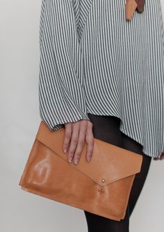 leather clutch...