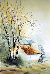 Stylowa kolekcja inspiracji z kategorii Hobby Watercolor Painting Techniques, Watercolor Landscape Paintings, Watercolor Trees, Watercolor And Ink, Watercolour Painting, Landscape Art, Painting Trees, Watercolors, Watercolor Pictures