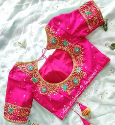 To make it easier for you, we have the top trending beautiful silk saree blouse designs so that you can choose the best for your saree look. Blouse Back Neck Designs, Cutwork Blouse Designs, Kids Blouse Designs, Hand Work Blouse Design, Simple Blouse Designs, Stylish Blouse Design, Bridal Blouse Designs, Saree Blouse Designs, Pink Blouse Design