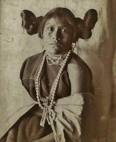 HOPI GIRL , circa 1900