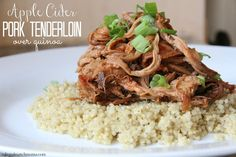 Apple Cider Pork Tenderloin...a simple slow cooker supper that you just can't mess up!