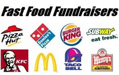 Fast Food Fundraisers - Four ways to raise funds with fast food restaurants. Find more easy school fundraiser ideas at www.FundraiserHelp.com/school-fundraiser/