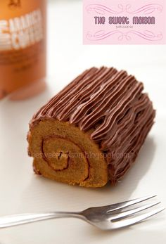 Coffee Cake Roll with Chocolate Butter Cream