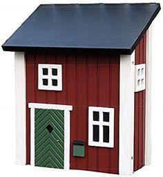 briefkasten villa weiß holz landhaus wandbriefkasten postkasten, Moderne