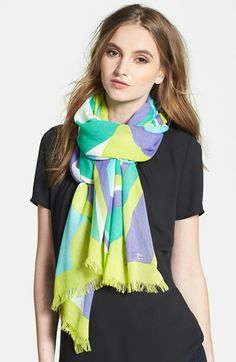 kate spade new york 'carnival swirl' scarf available at #Nordstrom