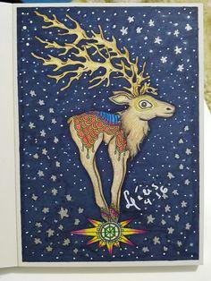 Livro Vinterdrommar, colorido por mim @lelescristiane