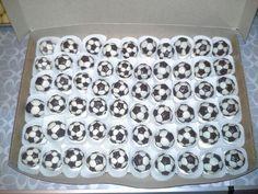 Soccer ball cake balls