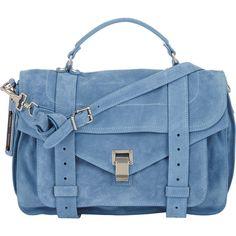 Proenza Schouler PS1 Medium Shoulder Bag ($1,780) ❤ liked on Polyvore featuring bags, handbags, shoulder bags, purses, bolsas, сумки, blue, zipper handbag, flap purse and zipper purse