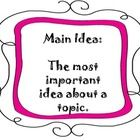 Main Idea Posters Set 2!!Includes:Main Idea, Details, Topic, and Theme!Please note colors differ from set 1!...