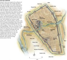 The city of Nineveh was an ancient Assyrian city on the eastern bank of the Tigris River, and capital of the Neo-Assyrian Empire.