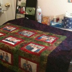 Almost finished with my photo quilt!