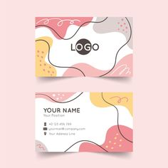 Abstract company card with painted eleme. Thank You Card Design, Name Card Design, Photoshop Design, Arte Shop, Conception Photoshop, Design Plat, Certificate Design Template, Notebook Cover Design, Thanks Card