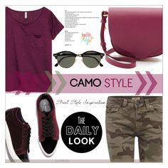 """""""Go Camo"""" by befunky ❤ liked on Polyvore featuring True Religion, Alden, H&M, Sophie Hulme, Ray-Ban, polyvorecommunity, camostyle and PolyvoreMostStylish"""