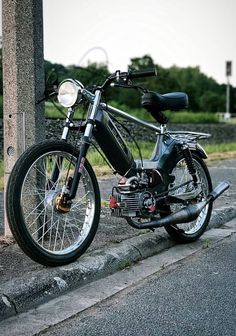 Puch Moped, Custom Moped, Mini Chopper, Motor Scooters, Old Bikes, Mopeds, Go Kart, Honda, Cars