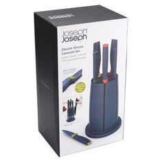 Joseph Joseph Elevate Knives Carousel Set 6-piece Knife Set with Rotating Knife Block,