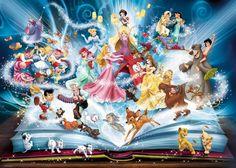 Photo Ravensburger 16318 - Disney's magical book of fairies - 1500 pieces jigsaw puzzle 1