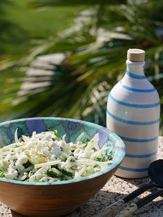 Well, here I am in Italy, in the summer, and, of course the flat-leaf parsley is glorious. So it seems right that it's the parsley which is really the hero of this salty (thanks to the feta) salad, with the fennel adding a sophisticated note of aniseed.