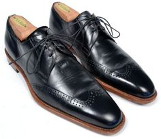 MEZLAN Black Wingtip Blucher Oxford Casal Dress Shoes SPAIN Mens Size US 7.5 M #Mezlan #WingTip